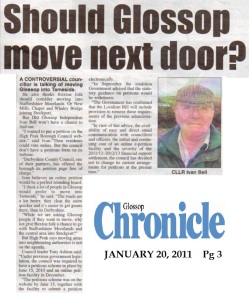 Cllr Bell - Should Glossop move next door?